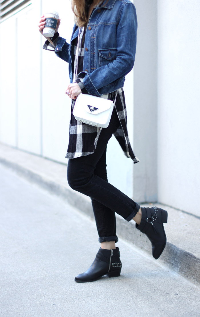 Black Western Style Ankle Boots Amp Spring Layers