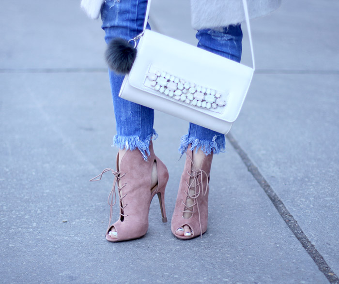 Chinese Laundry Pink Lace-Up Booties 3i