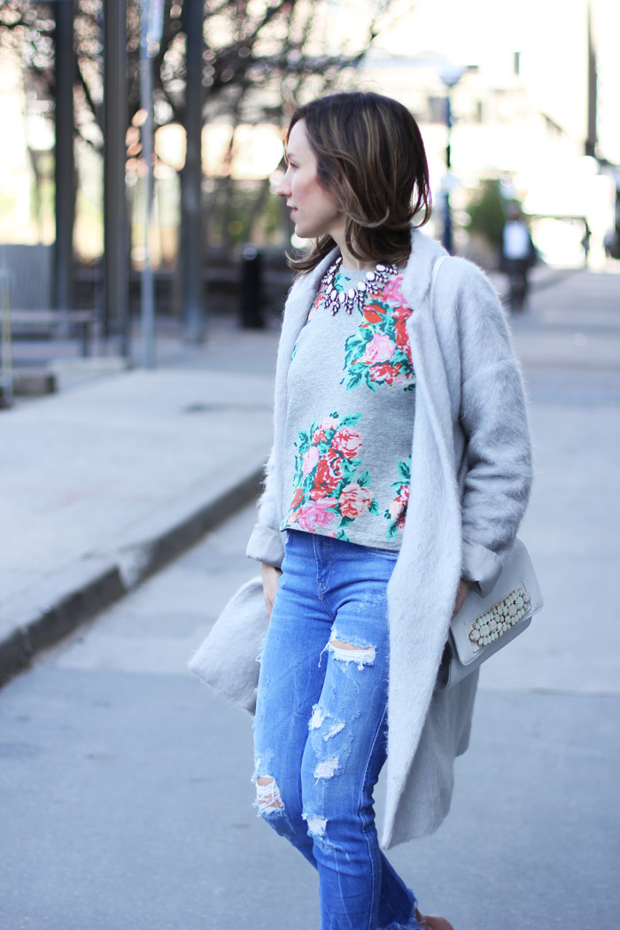 Chinese Laundry Pink Peep Toe Booties Outfit