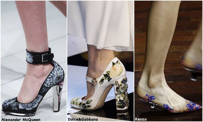 Fall 2016 Shoe Trends - Painted Flowers