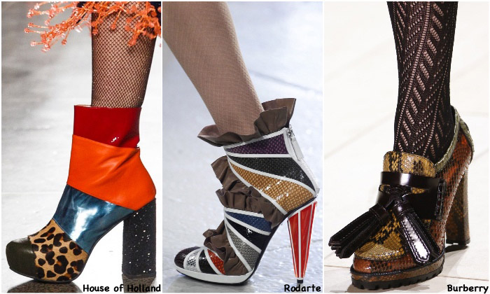 Fall 2016 Shoe Trends - Patchwork