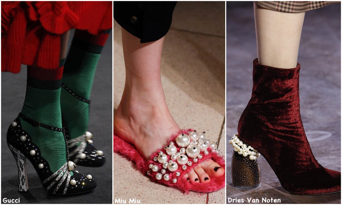 Fall 2016 Shoe Trends - Pearls