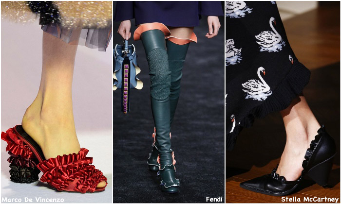 Fall 2016 Shoe Trends - Ruffles