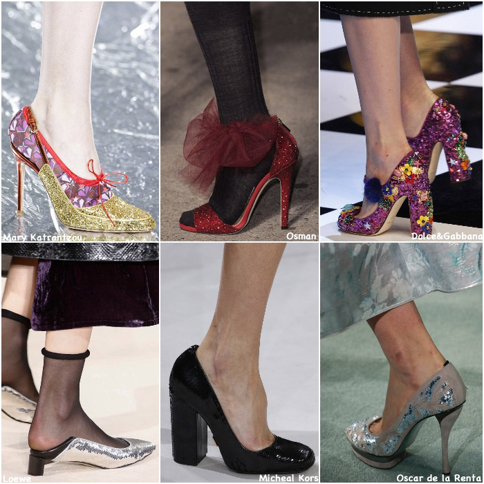 Fall 2016 Shoe Trends - Sequins Glitter