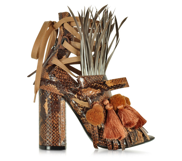 Ugly sandals n21 straw heels Spring 2016