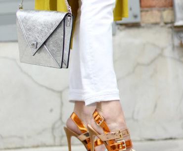 Mirror Metallic Strappy Sandals