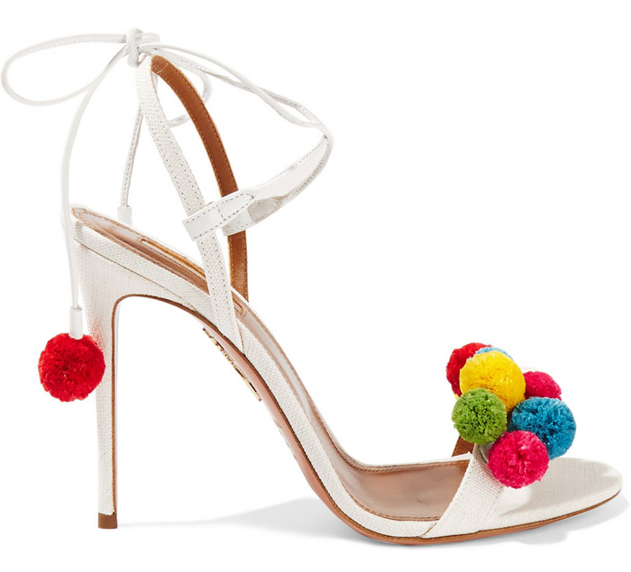 Aquazzurra pom pom sandals
