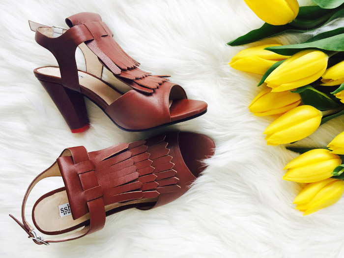 Brown Fringe Sshoes Quiet Comfortable Heels 1
