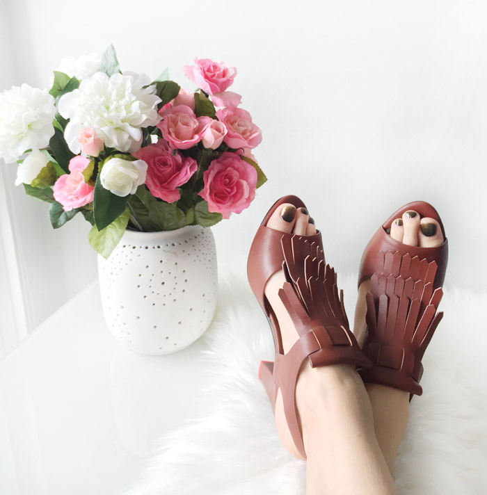 Brown Fringe Sshoes Quiet Comfortable Heels 2
