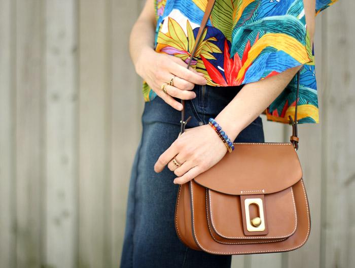 Brown saddle bag Zara