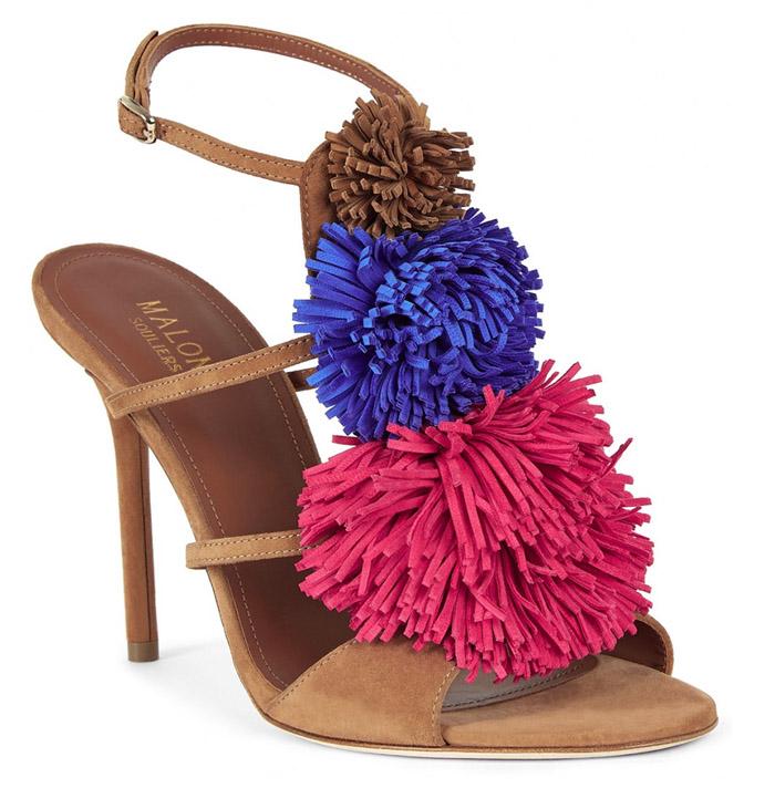Malone Souliers pom pom sandals