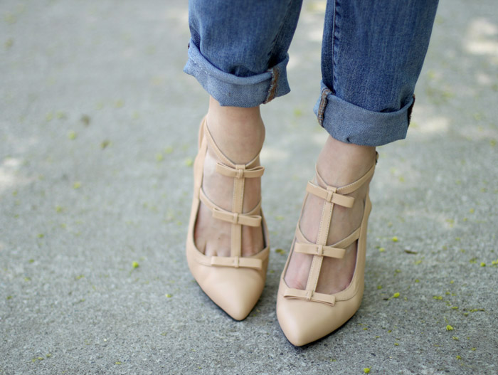 Nude Bow Pumps Ssh-oes