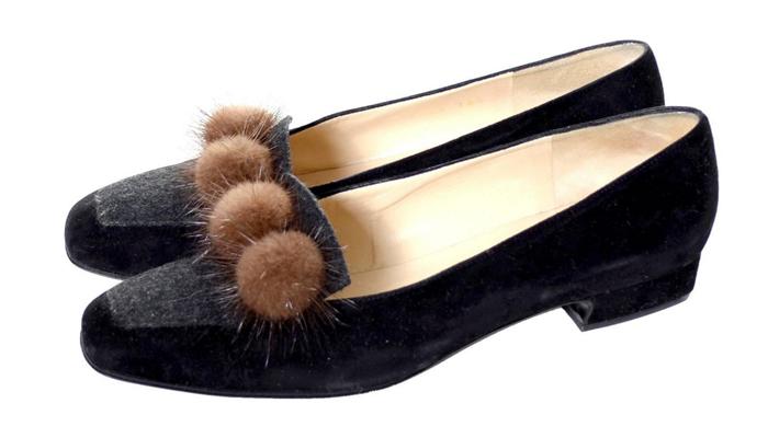 ugly vintage pom pom loafers perverse or just bad