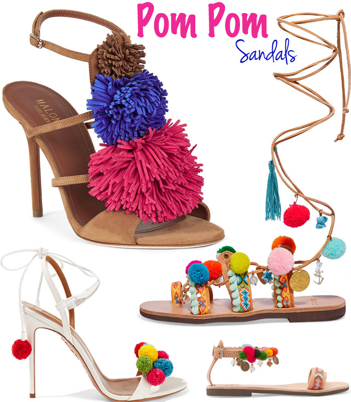 Festival-Worthy Pom Pom Sandals – High & Low!