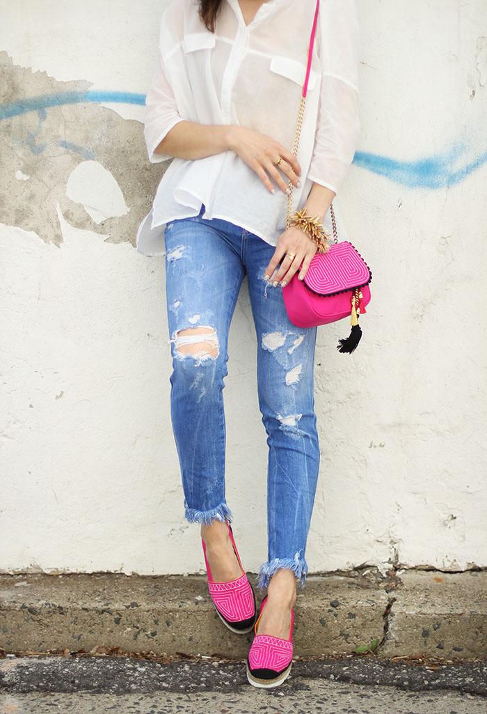 Pink Platform Espadrilles Shoes Spanish