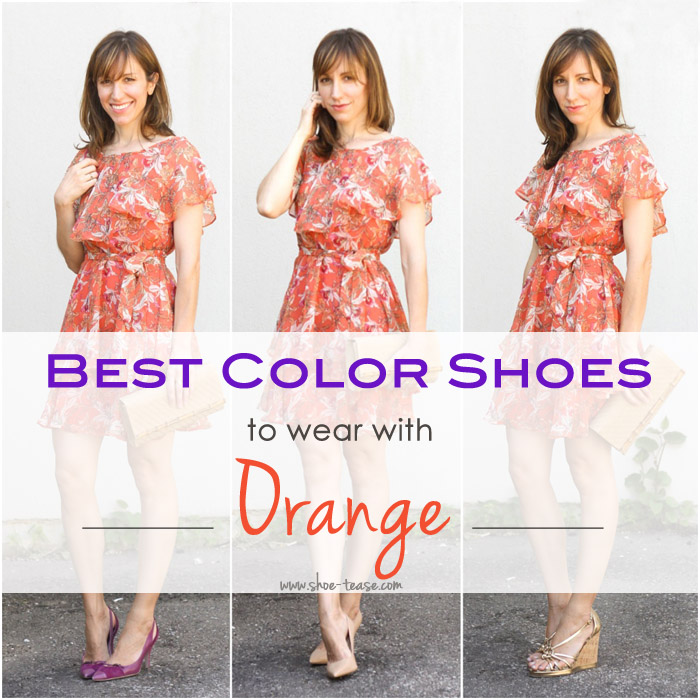 Best Shoes with Orange Dress