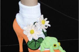 Crochet Frog Sock Heels