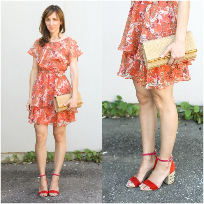 Shoes to wear with Orange Dress Red