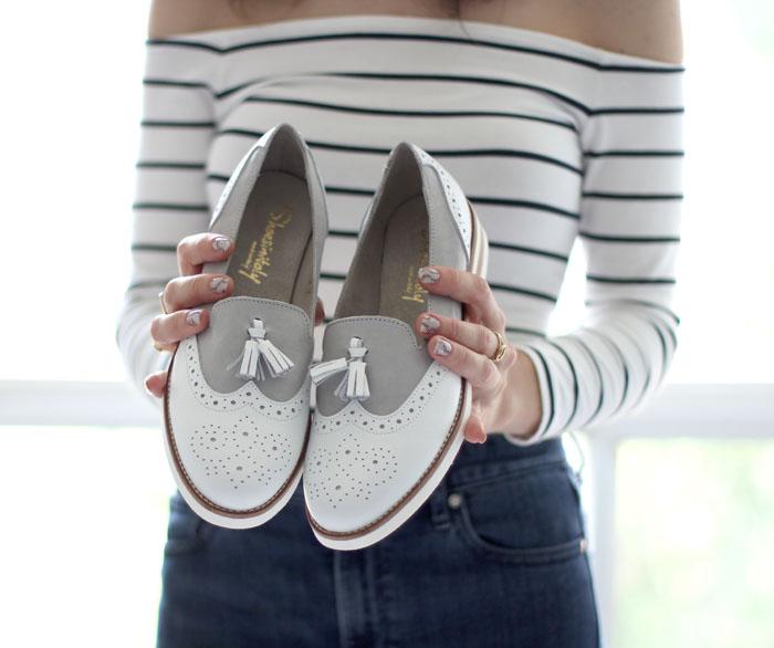 Womens tassel wingtip loafers 1