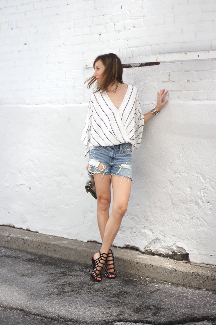 Wearing Those Quot It Quot Black Cage Sandals With Distressed