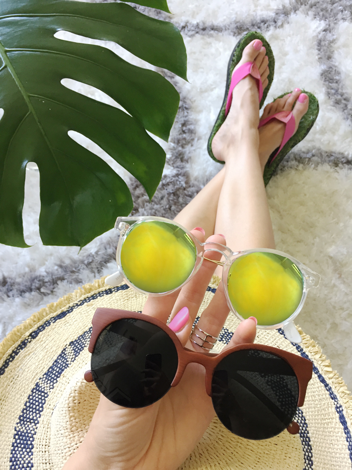 Lime Green Sunglasses | Summer Sunglasses