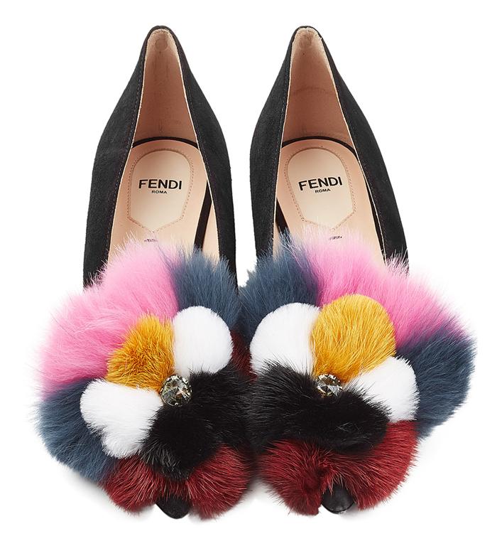 Fendi Furry Flats Fall 2016