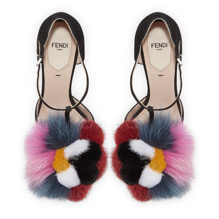 Fendi Furry High Heels