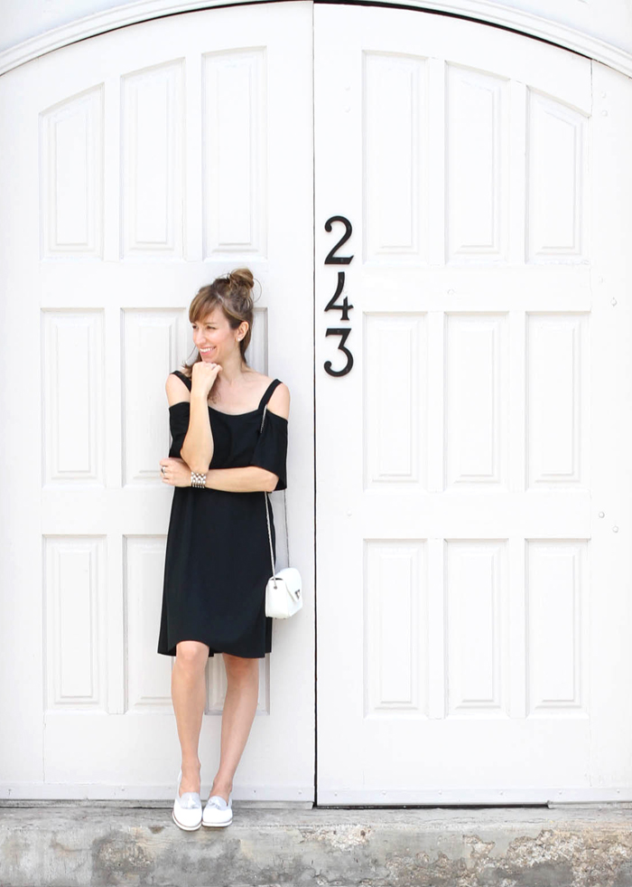 LBD with Loafers 1