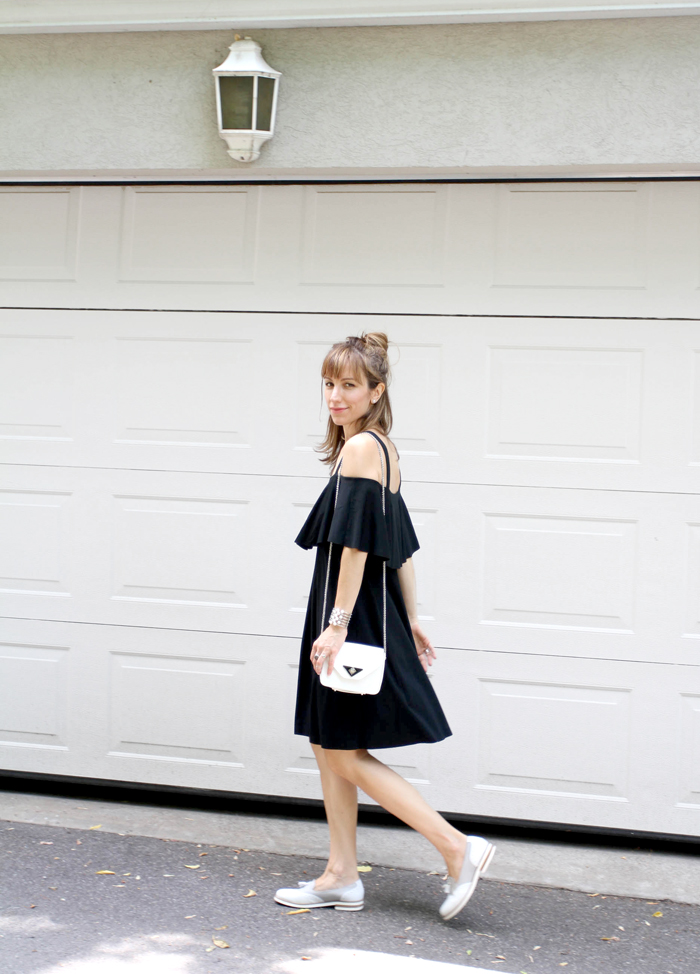 LBD with tassel loafers 1