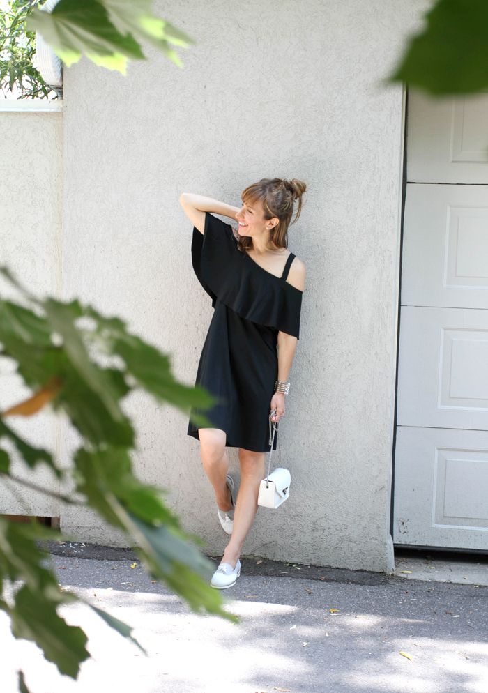LBD with tassel loafers 2