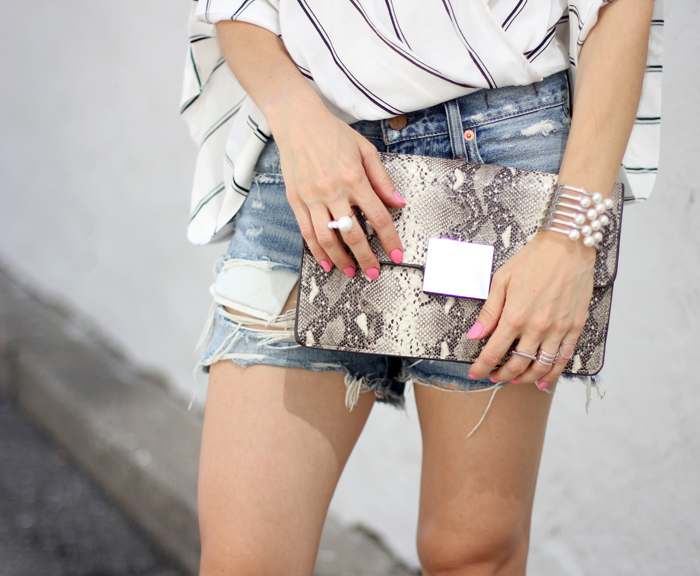 Snake Print Clutch Outfit