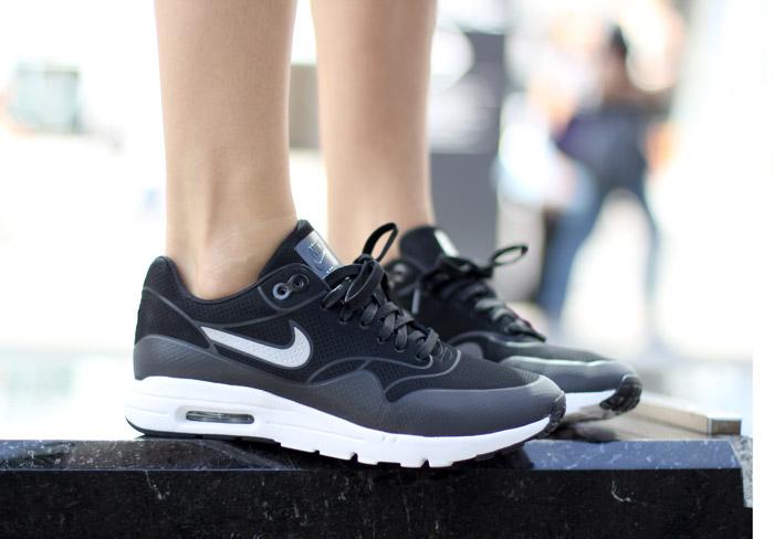 White and Black Nike Air Max Thea Sneakers