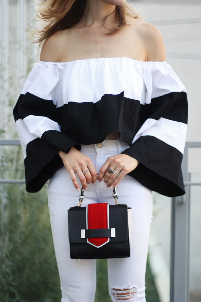 black-and-white-stripe-off-the-shoulder-top-with-with-bell-sleeves