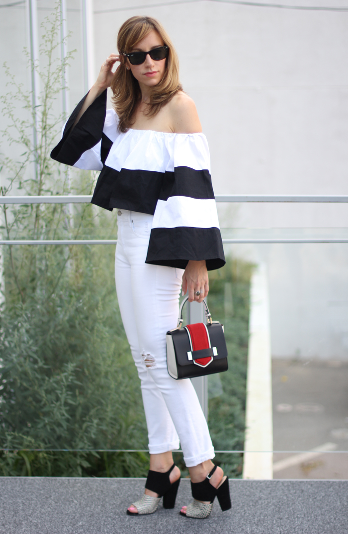 Black and white heels and outfit