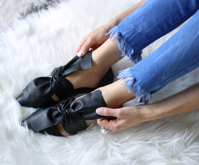 black-bow-knot-pointed-toe-flats