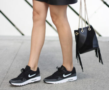 Layered Slip Dress with Sneakers