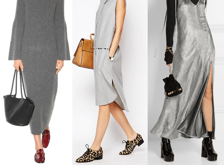 What Color Shoes to Wear with a Grey Dress & Outfits