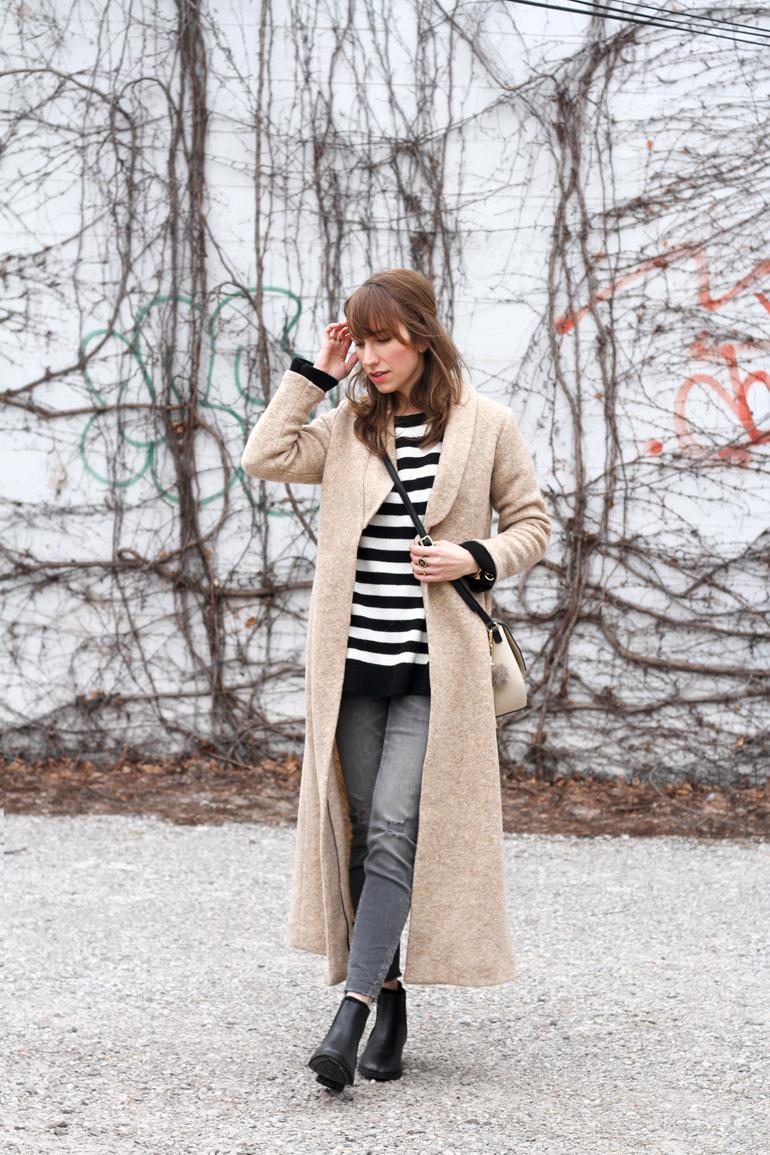 Camel Coat - Stylish Winter Boots