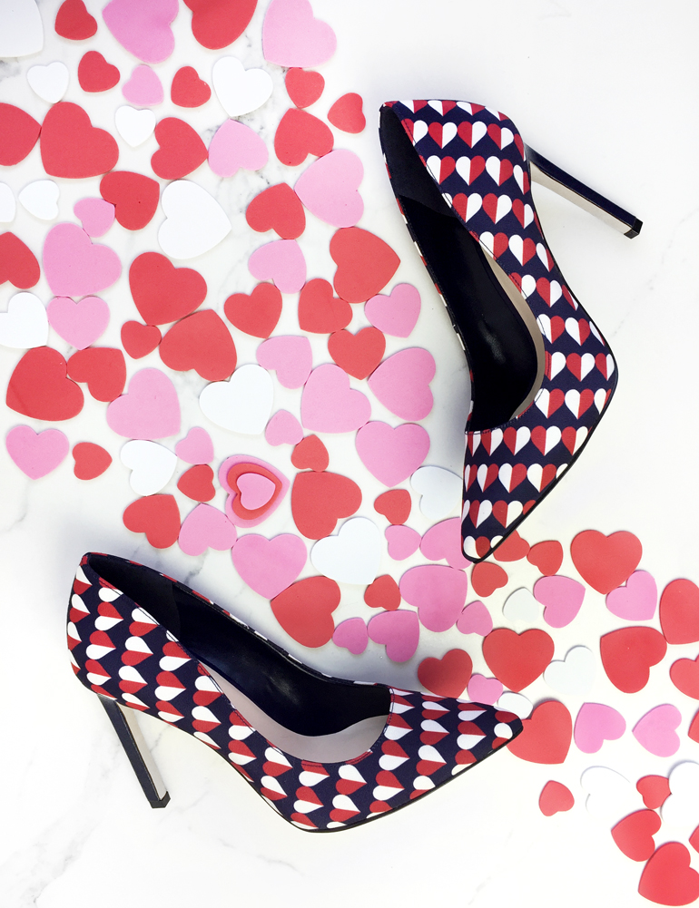 Shoes with Hearts heels