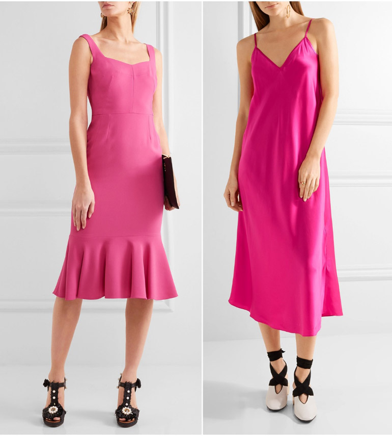 Fuchsia Gown: What Color Shoes With Hot Pink Dress Outfit
