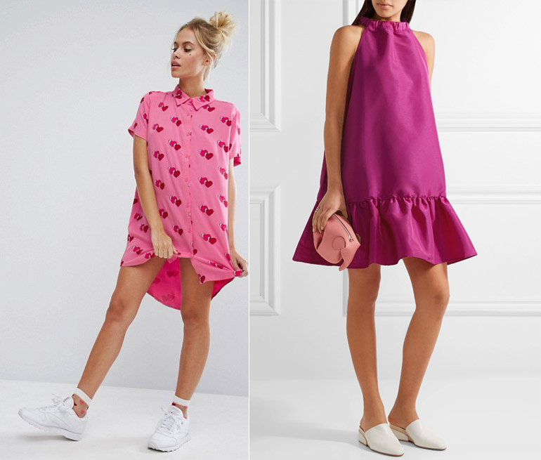What Color Shoes with Hot Pink Dress Outfit  70ebc188008c