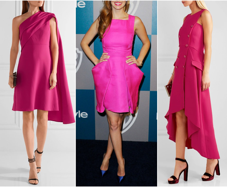 What Color Shoes Goes With Hot Pink Dress