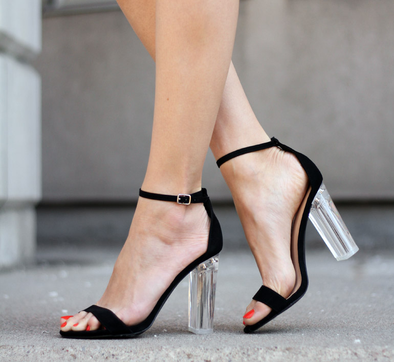 Girls Night Out Outfit Plexiglass Heels