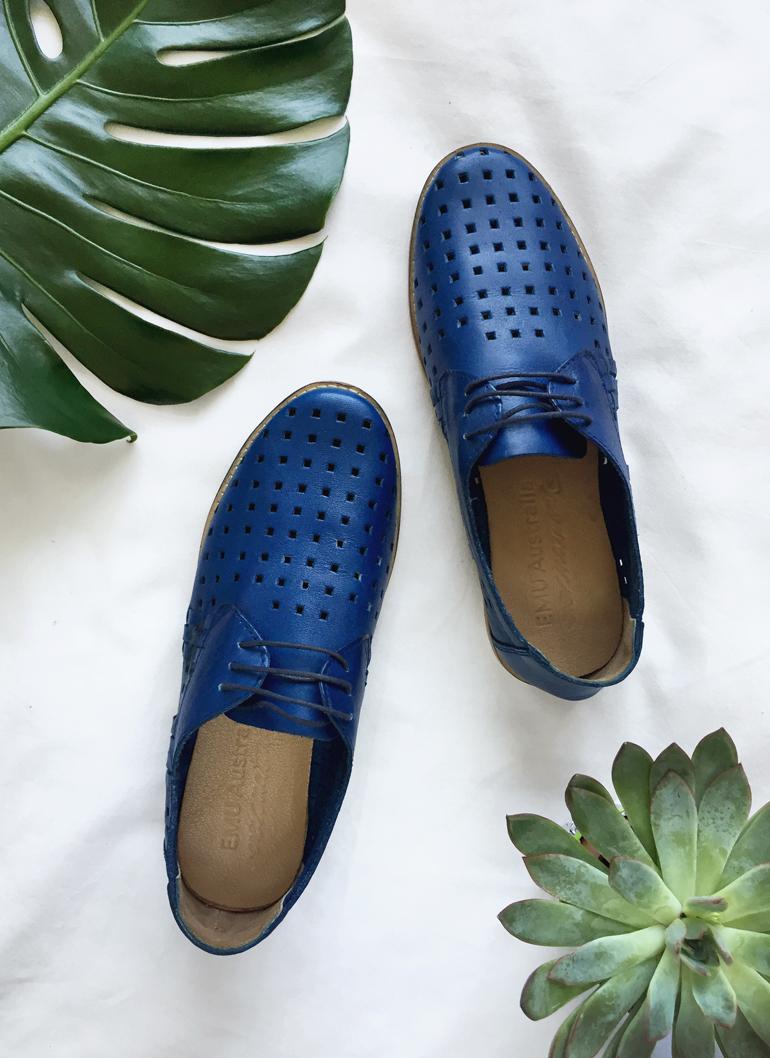 EMU Australia Shoes Blue Laser Cut Oxfords
