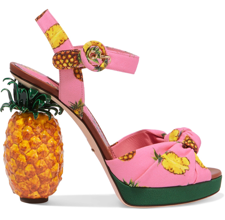 Pineapple Shoes Dolce&Gabbana heels Spring 2017