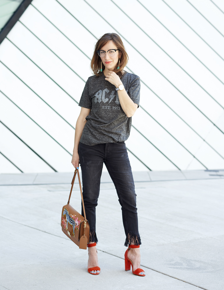 Day to Night Outfit Rocker Tee Chic