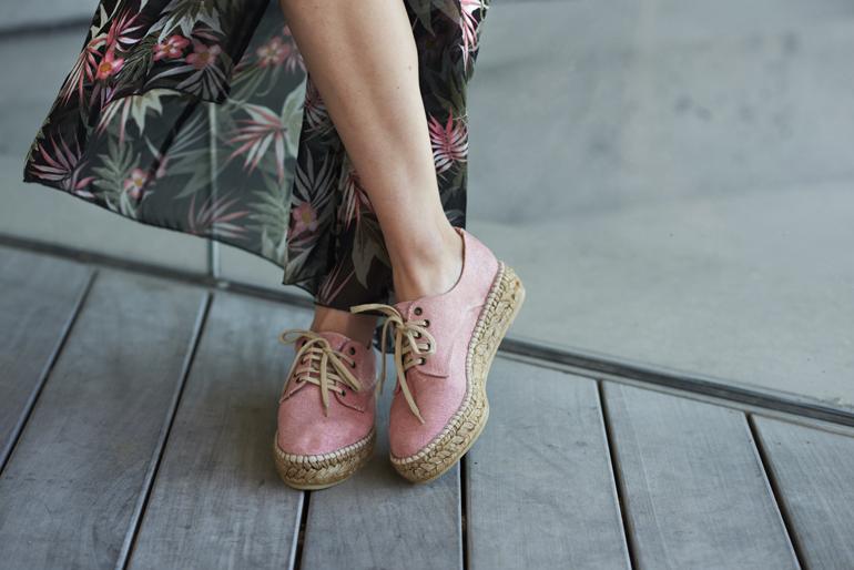 Pink Platform Espadrilles hot summer outfit