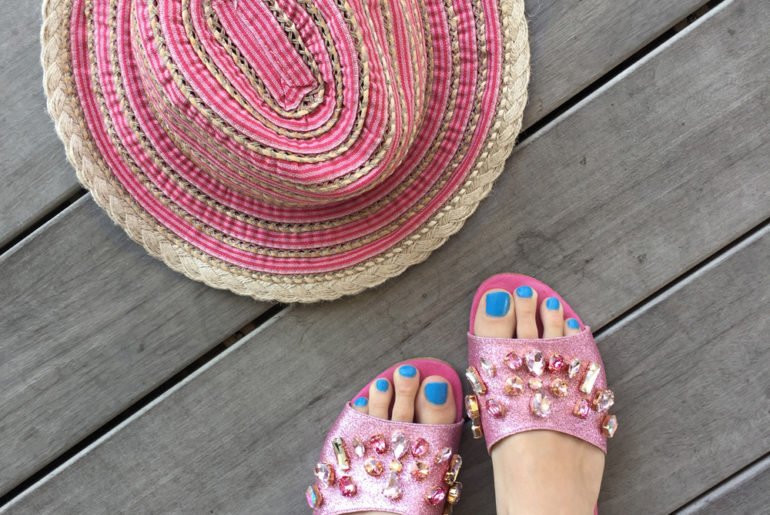 Beating the Heat in Summer Essentials & Sparkly Pink Slides
