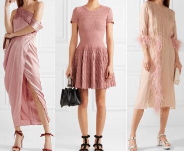 Pastel Pink Dress what Color Shoes