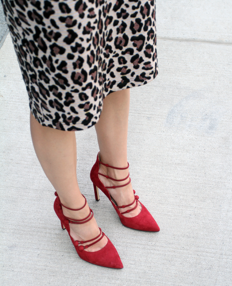 ba3d209e6e5d How do you like to incorporate leopard print into your outfits? Red Strappy  High Heels with a Leopard Print Pencil Skirt. Photography ...